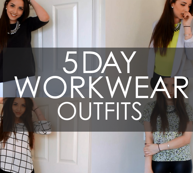 YOUTUBE: 5 Day Workwear Outfits
