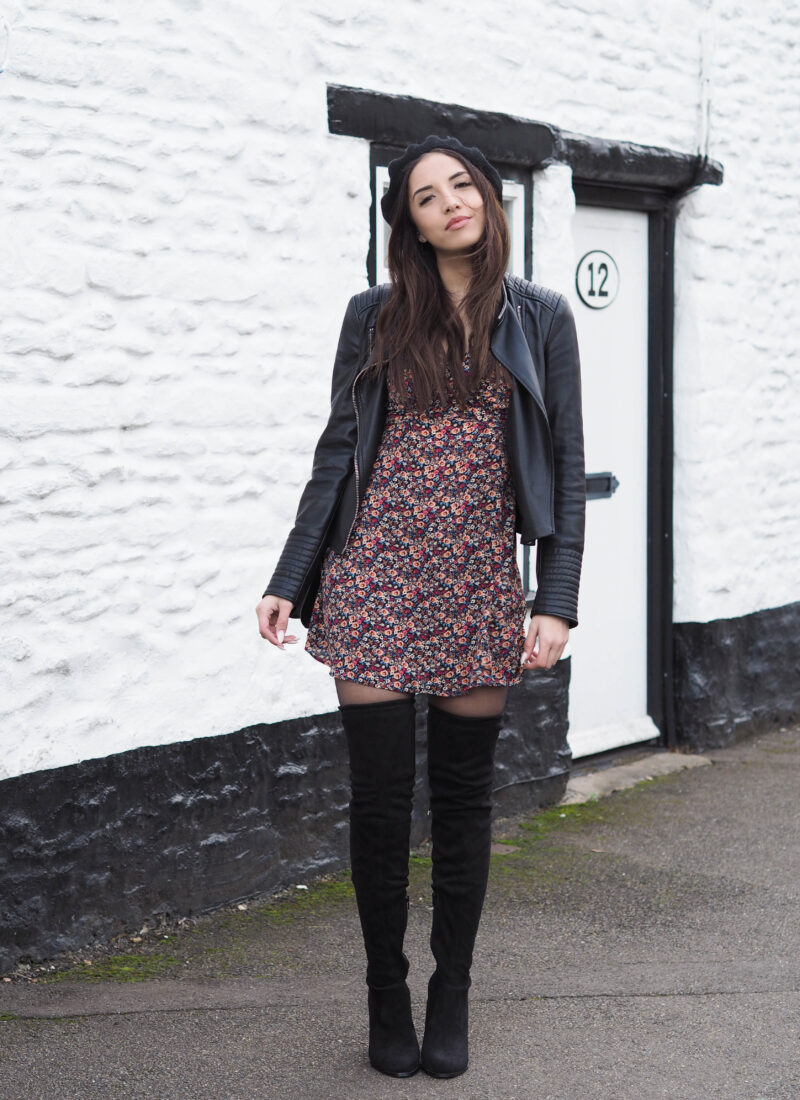 Ways To Wear: Floral Dresses & Over The Knee Boots